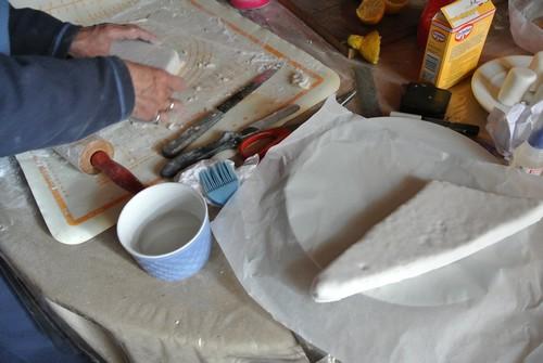 Ailes recouvertes de pâte à sucre
