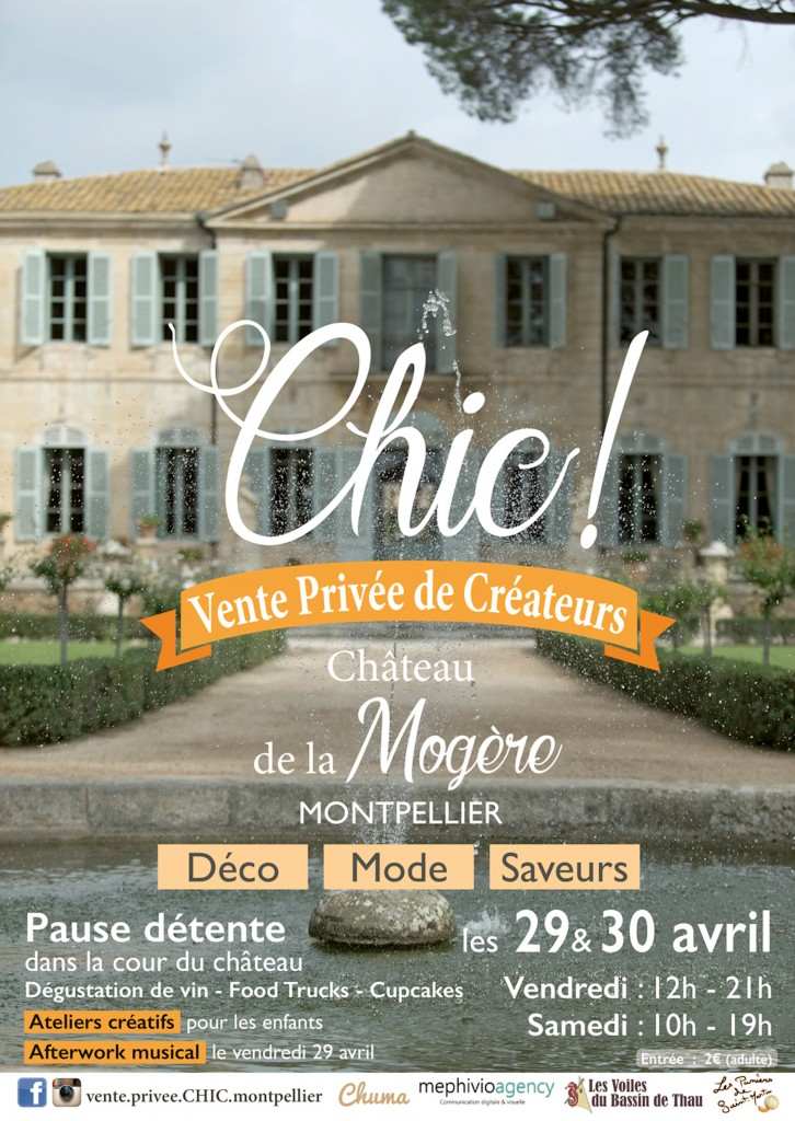 Affiche Vente Privée Chic Montpellier